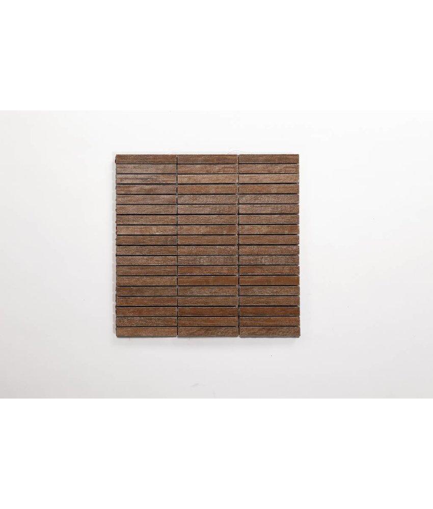 Feinsteinzeug Mosaik - ARKLOW Holzoptik hellbraun 1,5x10 - 30x30 cm