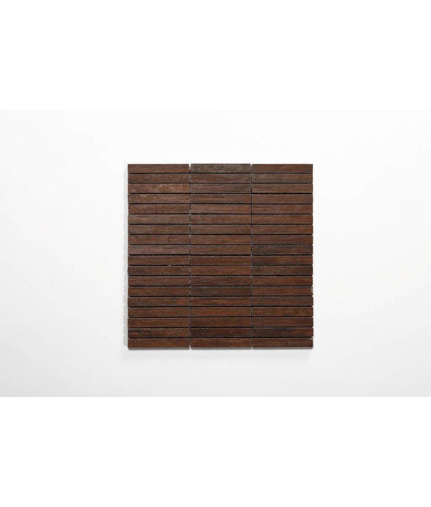 Feinsteinzeug Mosaik - TULLOW Holzoptik rotbraun 1,5x10 - 30x30 cm