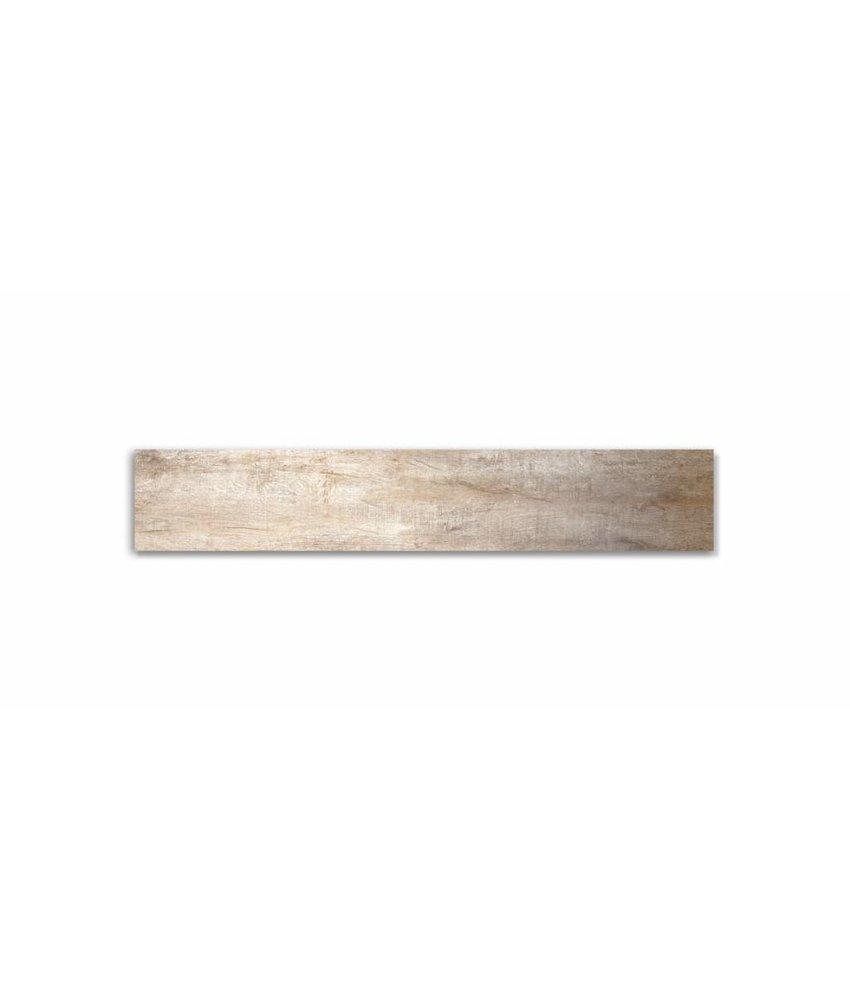 Feinsteinzeug glasiert und eingefärbt - GRANT TREE Holzoptik beige - 20x120 cm