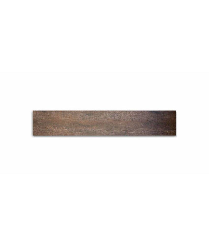 Feinsteinzeug glasiert und eingefärbt - GRANT TREE Holzoptik dunkelbraun - 20x120 cm
