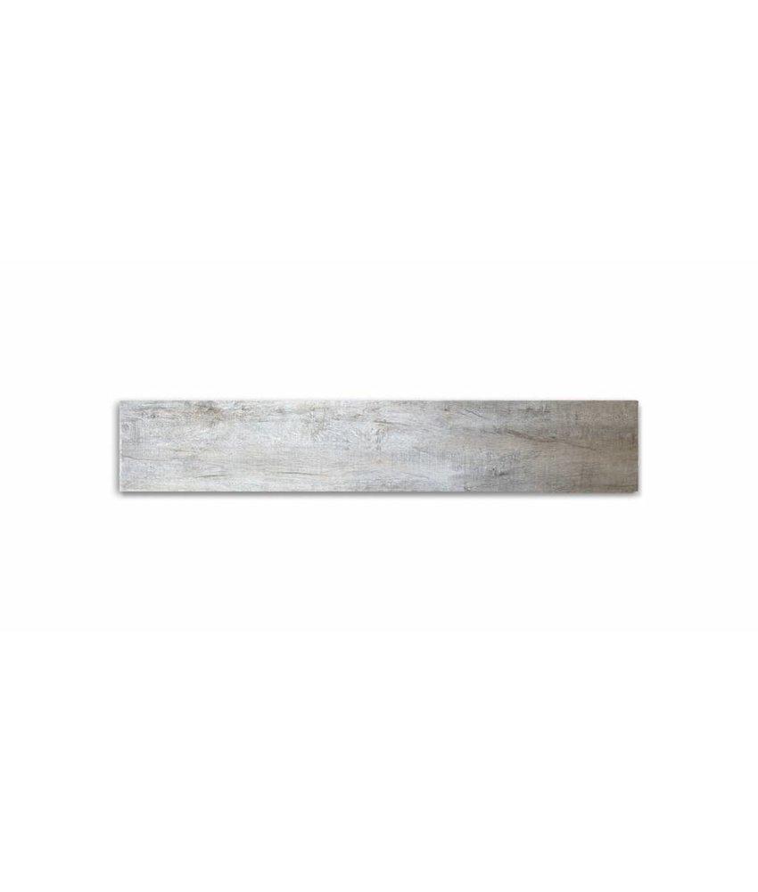 Feinsteinzeug glasiert und eingefärbt - GRANT TREE Holzoptik hellbeige-grau - 20x120 cm