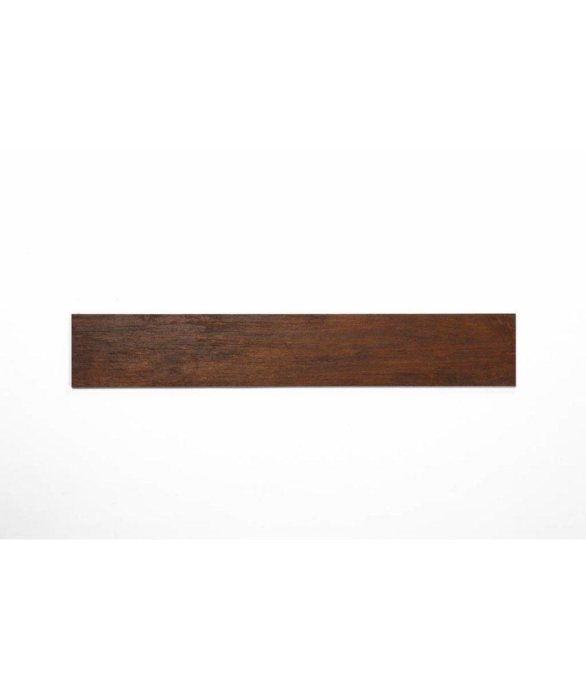 Feinsteinzeug glasiert und eingefärbt - TULLOW Holzoptik rotbraun - 15x90 cm