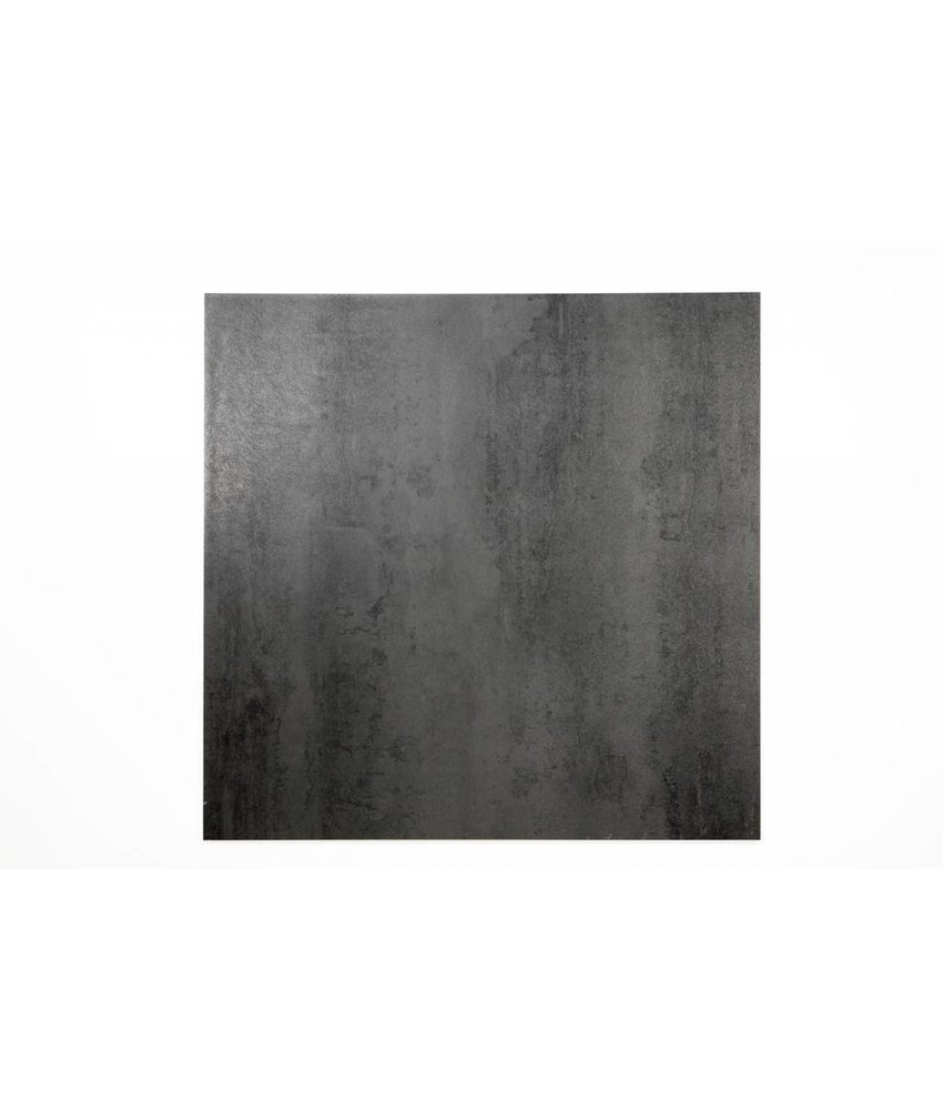 Feinsteinzeug glasiert und eingefärbt - DESERT anthrazit anpoliert - 60x60 cm