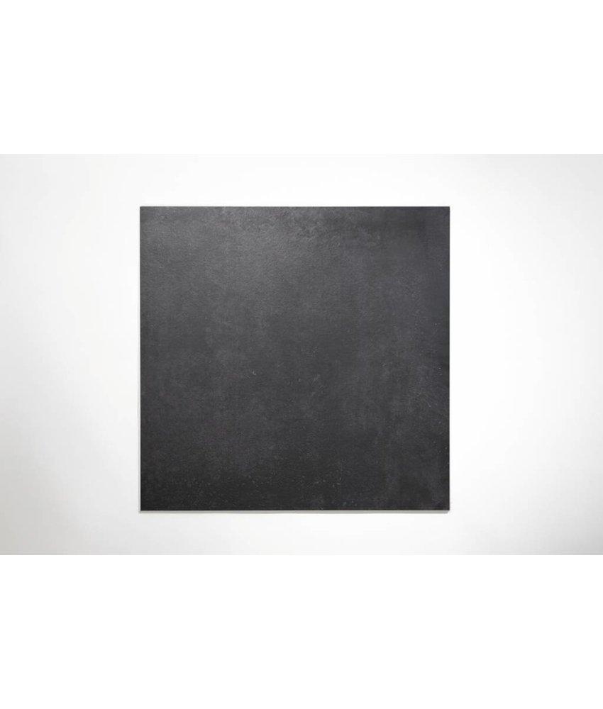 Feinsteinzeug glasiert und eingefärbt - BROOKLYN Zementoptik black - 60x60 cm
