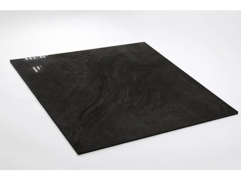 Feinsteinzeug glasiert und poliert - LEA Grafito - 60x60 ...