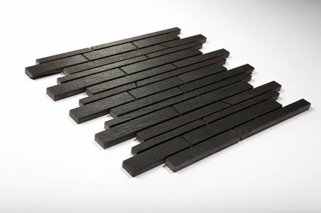 feinsteinzeug mosaik quarzit anthrazit schr g geschn. Black Bedroom Furniture Sets. Home Design Ideas