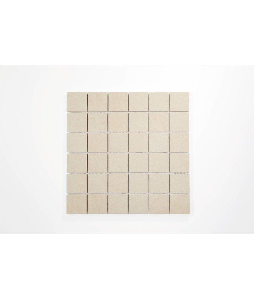 Feinsteinzeug Mosaik - QUARZIT elfenbein 5x5 - 30x30 cm