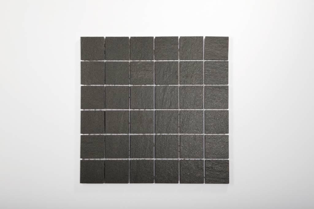 Feinsteinzeug Mosaik QUARZIT Anthrazit X X Cm Mosaic Outlet - Fugenbreite bei feinsteinzeug