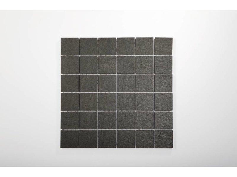 feinsteinzeug mosaik quarzit anthrazit 5x5 30x30 cm. Black Bedroom Furniture Sets. Home Design Ideas