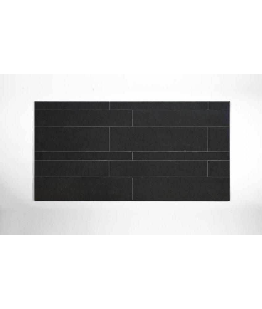 Feinsteinzeug unglasiert Format Mix - PICCADILLY schwarz - 4,8+9,8+14,8x60 cm