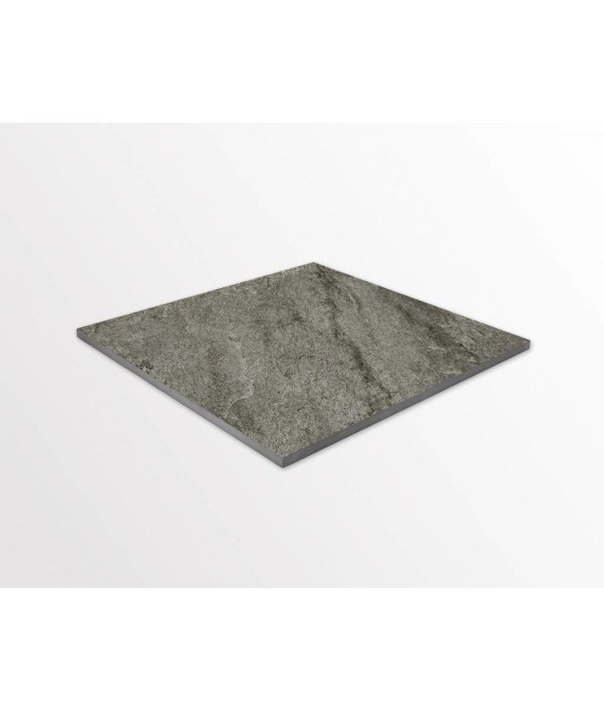 Feinsteinzeug glasiert - TERRA Magma grau - 60x60 cm