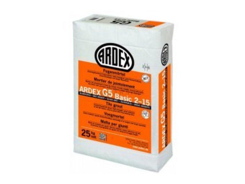 ARDEX G5 BASIC 2-15 – Zementgebundener Fugenmörtel (25 Kg)