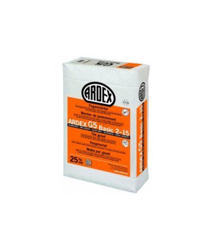 G5 BASIC 2-15 – Zementgebundener Fugenmörtel (25 Kg)