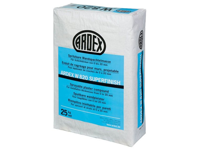 ARDEX W 820 Superfinish – HandSpritzRoll Spachtelmasse (25 Kg)