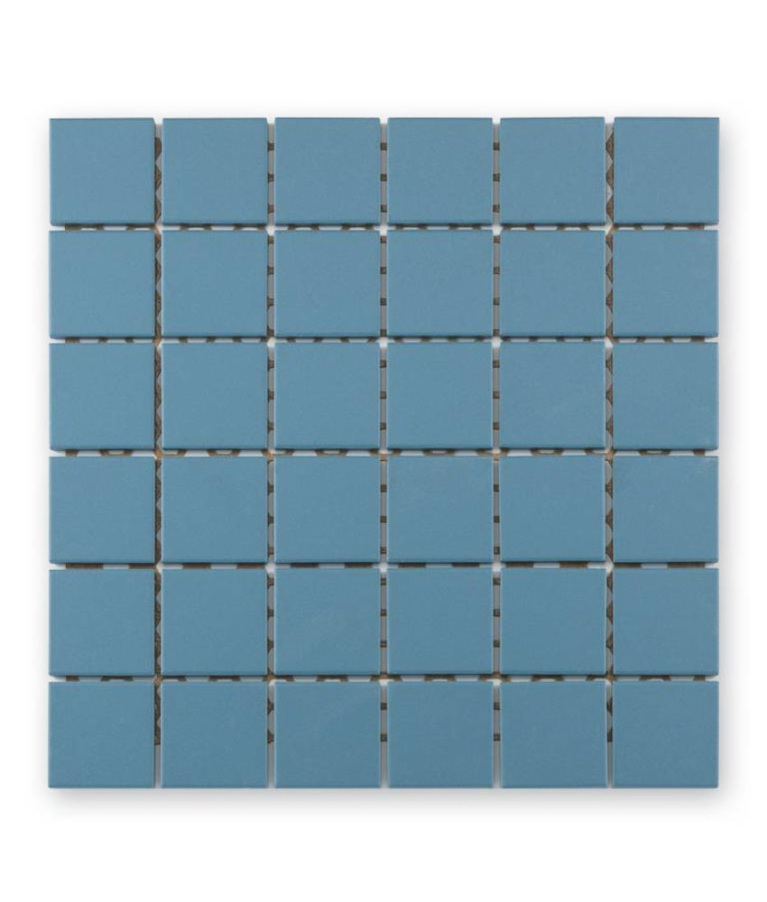 Keramik Mosaikfliesn UG-5060 Grip blau unglasiert