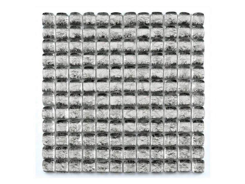 BÄRWOLF Glasmosaik-Fliesen GL-11002 Ice Cube silver