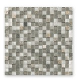 BÄRWOLF Materialmixmosaik-Fliesen GL-15022 Tuscany white lightrustic mix
