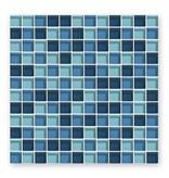 BÄRWOLF Glasmosaik-Fliesen GL-2342 Translucent blue mix