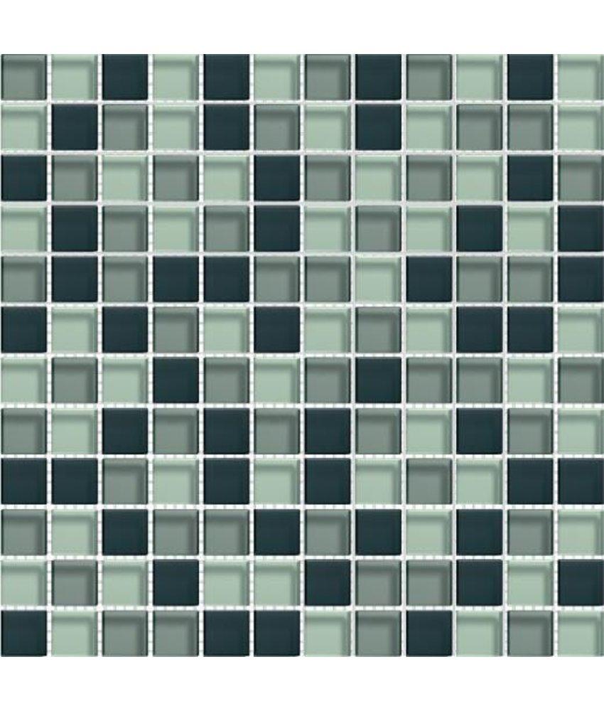 Glasmosaik-Fliesen GL-2343 Translucent graphit mix