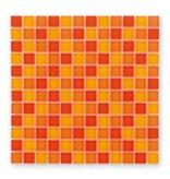 BÄRWOLF Glasmosaik-Fliesen GL-2451 Translucent sunny orange mix