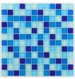 BÄRWOLF Glasmosaik-Fliesen GL-2461 Translucent water blue mix