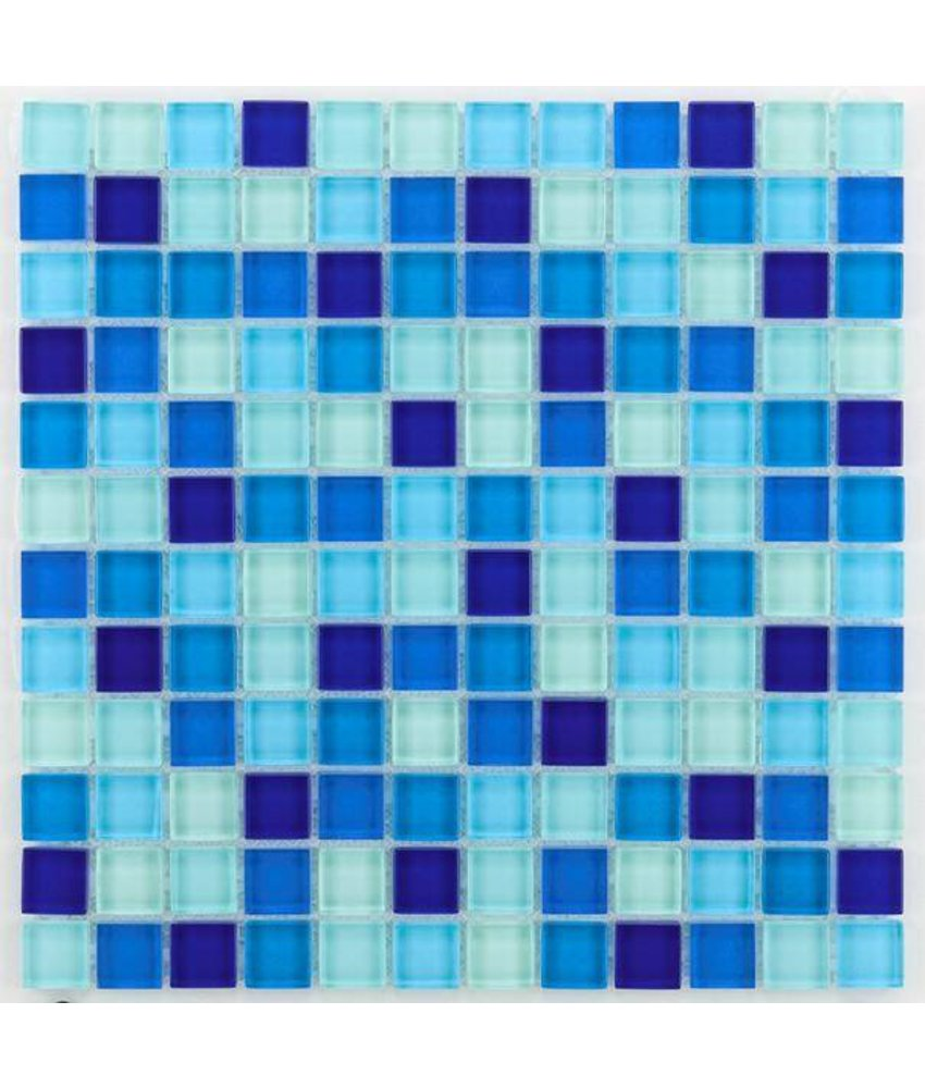 Glasmosaik-Fliesen GL-2461 Translucent water blue mix