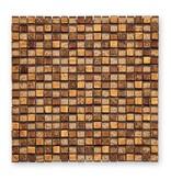 BÄRWOLF Materialmix-Mosaikfliesen GL-2488 Tuscany warm gold