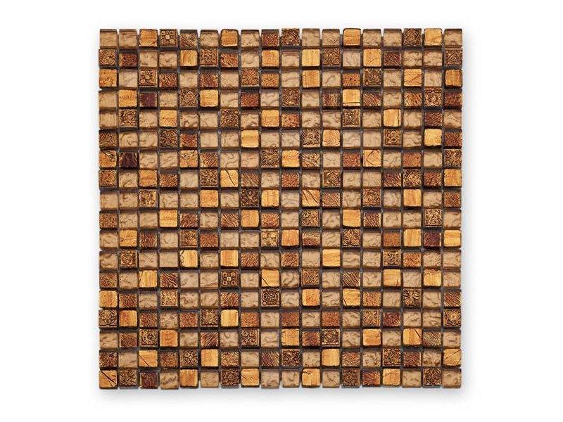 BÄRWOLF MaterialmixMosaikfliesen GL Tuscany Warm Gold Mosaic - Mosaik fliesen outlet