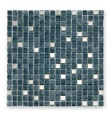 BÄRWOLF Materialmix-Mosaikfliesen GL-2495 Tuscany metal black