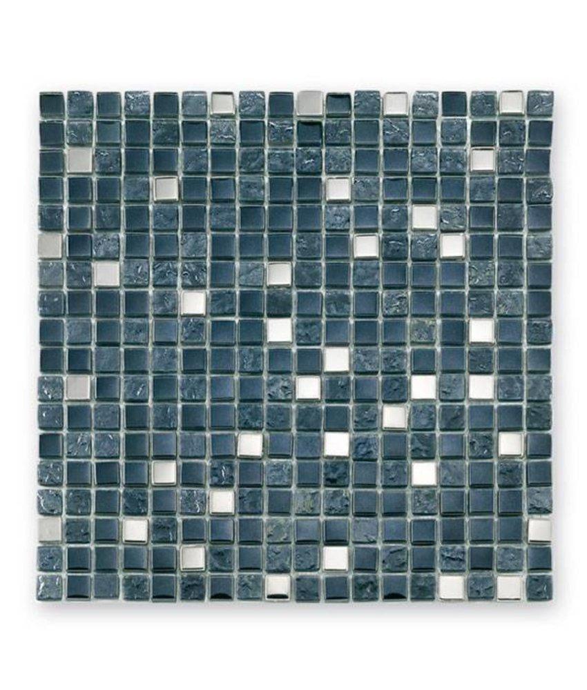 Materialmix-Mosaikfliesen GL-2495 Tuscany metal black