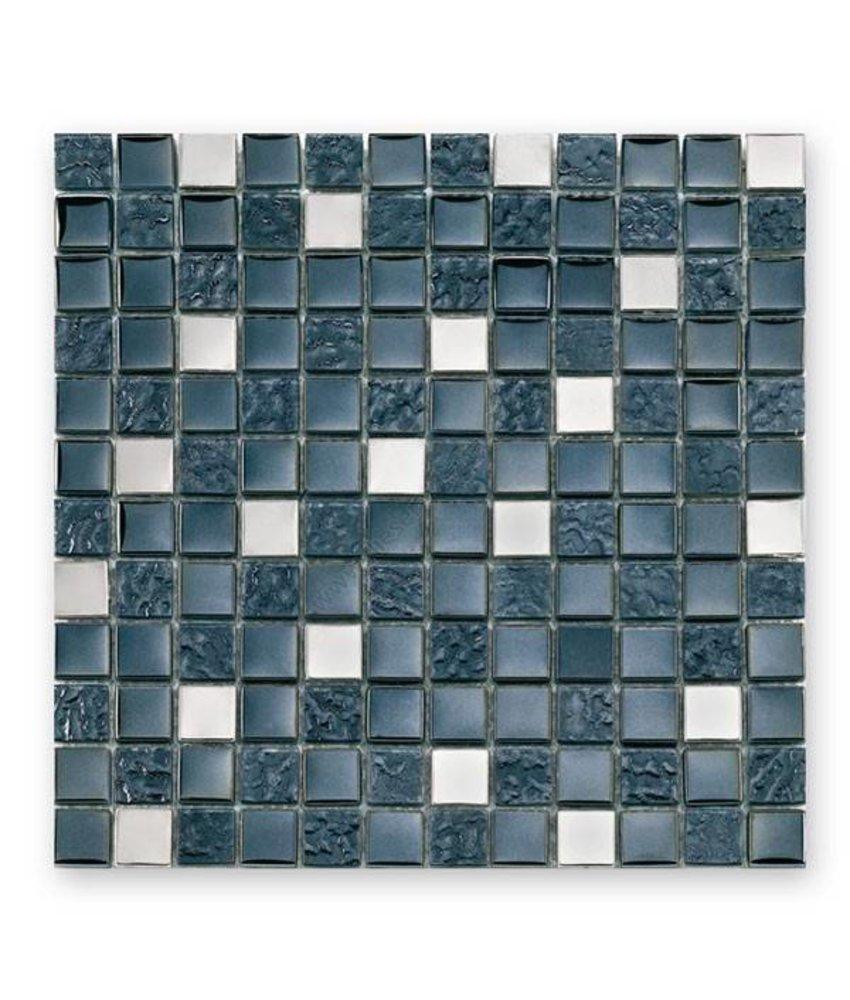 Materialmix-Mosaikfliesen GL-2496 Tuscany metal black