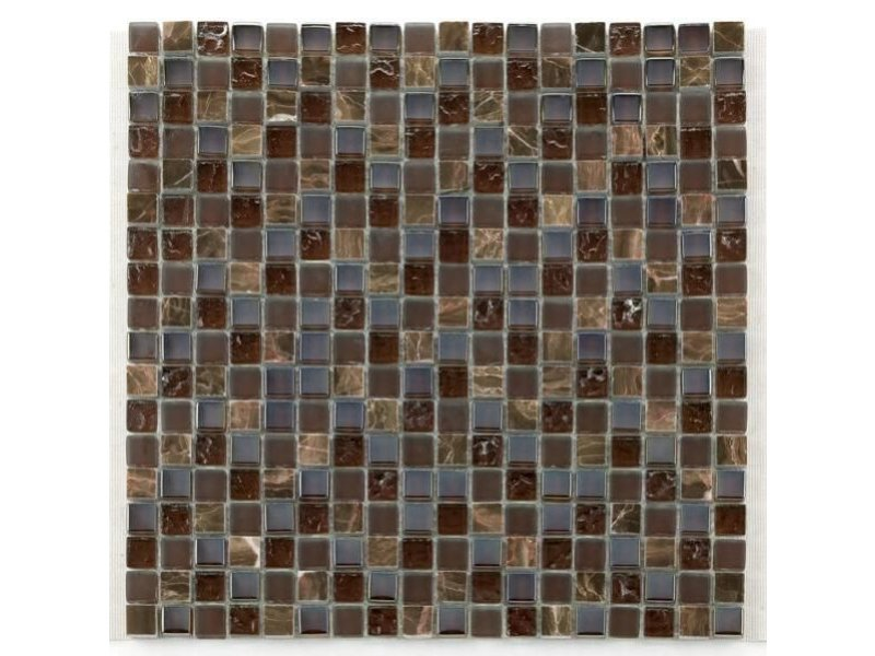 BÄRWOLF Materialmix-Mosaikfliesen GL-2497 Tuscany brown