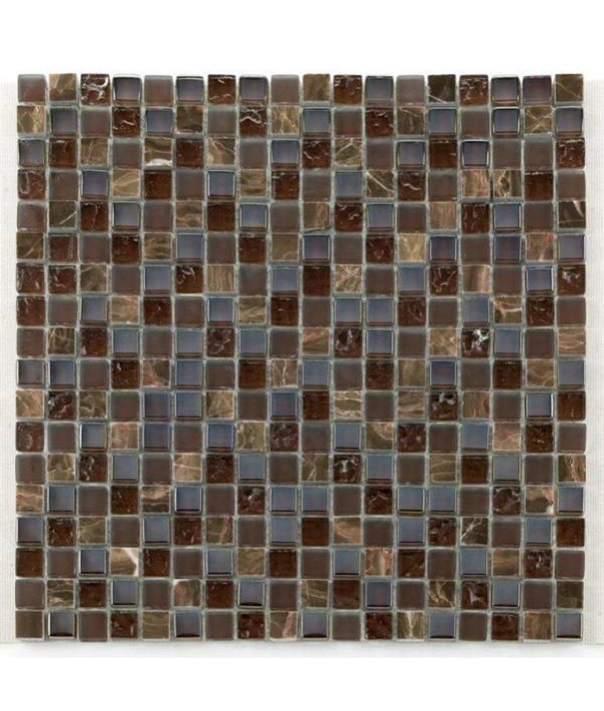 Materialmix-Mosaikfliesen GL-2497 Tuscany brown