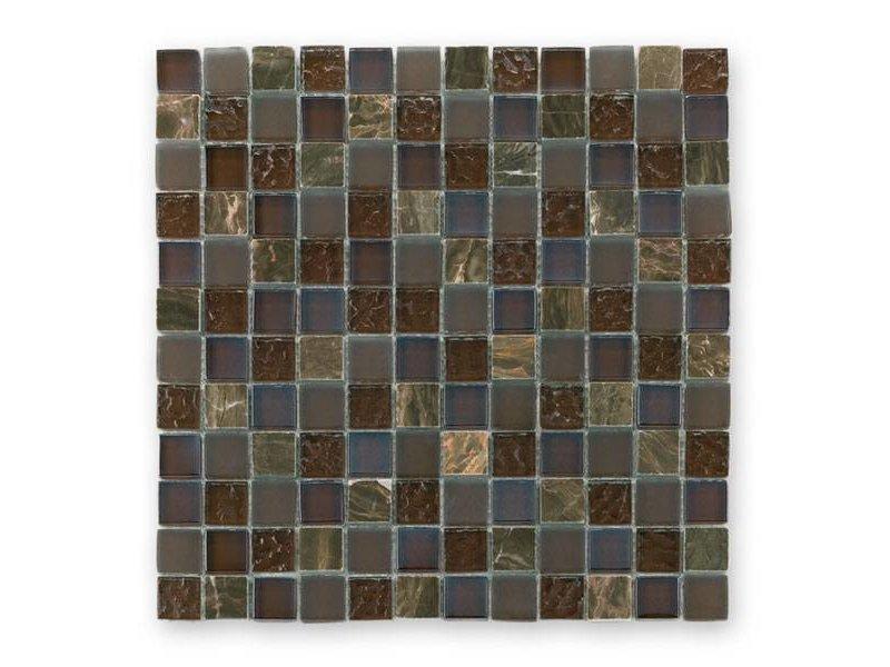 BÄRWOLF Materialmix-Mosaikfliesen GL-2498 Tuscany brown