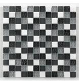 BÄRWOLF Materialmix-Mosaikfliesen GL-2500 Tuscany silver grey