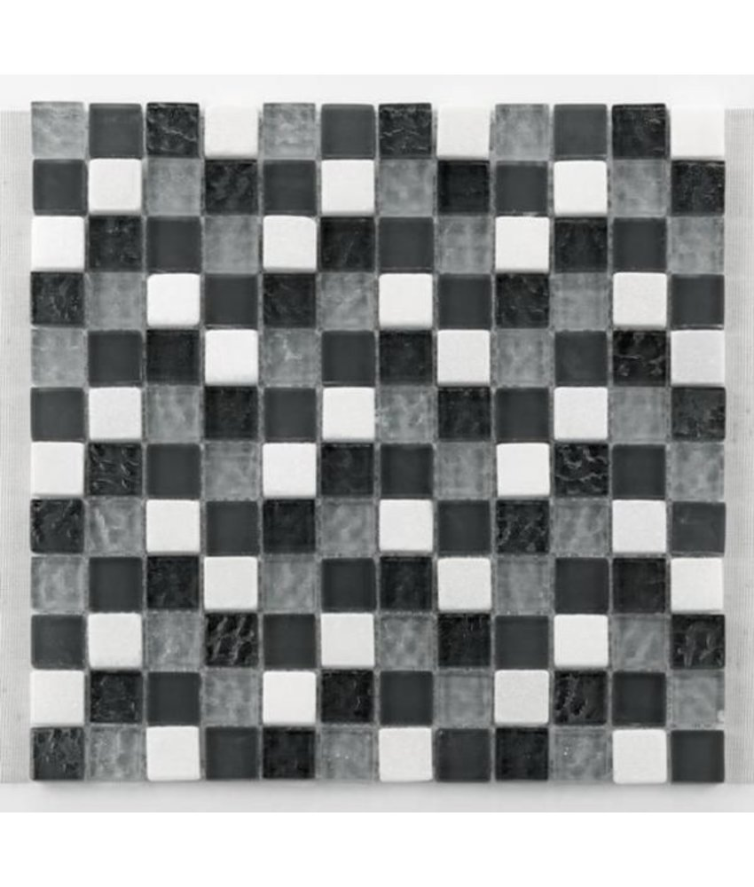 Materialmix-Mosaikfliesen GL-2500 Tuscany silver grey