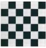 BÄRWOLF Glas-Mosaikfliesen GL-2502 Tuscany black & white