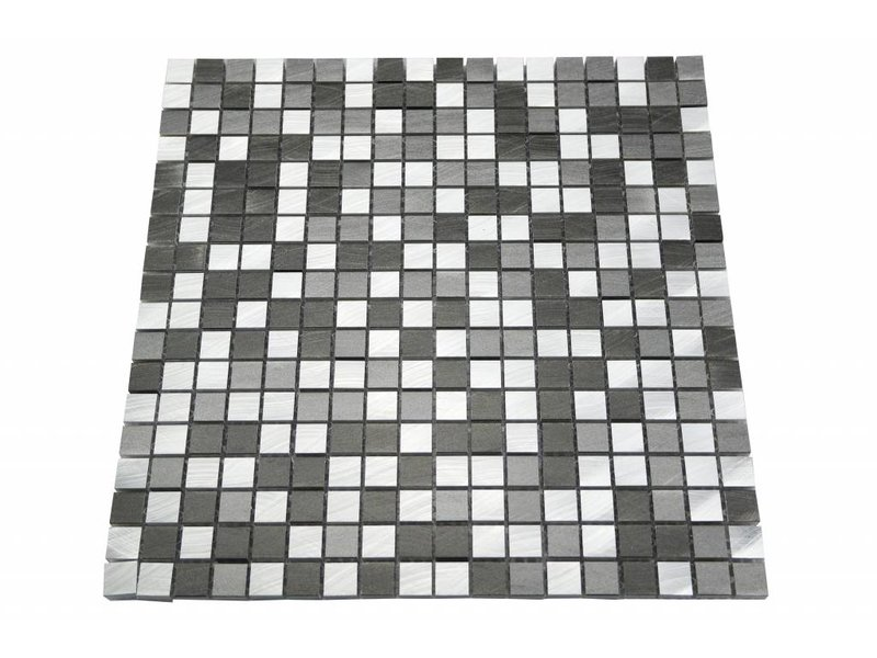 Edelstahl mosaikfliesen silber grau anthrazit mot28 mosaic outlet - Mosaikfliesen silber ...