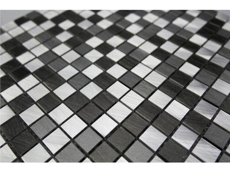 EDELSTAHL Mosaikfliesen Silber Grau Anthrazit MOT Mosaic Outlet - Mosaik fliesen outlet
