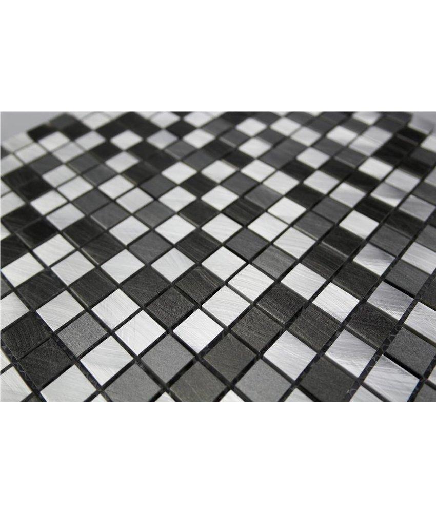 Ansehen EDELSTAHL Mosaikfliesen   Silber, Grau, Anthrazit MOT28