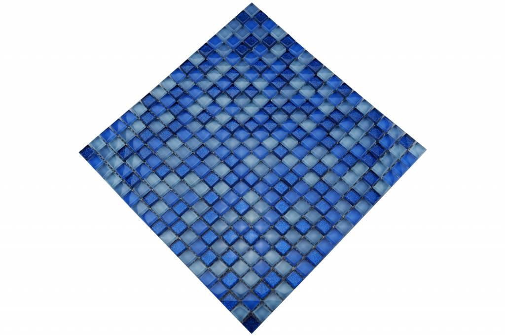 Glasmosaik Fliesen Blau Mix MOT Mosaic Outlet - Glasmosaik fliesen blau