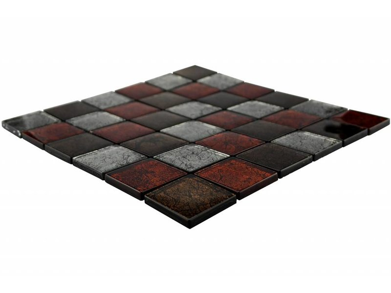 glasmosaik fliesen silber braun rot gm4800 mosaic outlet. Black Bedroom Furniture Sets. Home Design Ideas