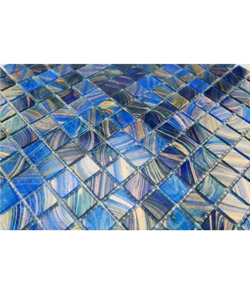Ansehen GLASMOSAIK FLIESEN   Sicilia   Dunkel Blau / Kupfer Mix