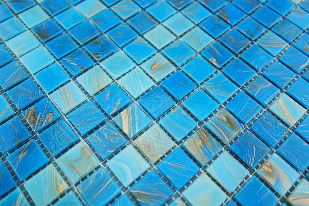 ... Glasmosaik Fliesen Split Hell Blau Gold Mix Mosaic For Glasmosaik  Fliesen ...