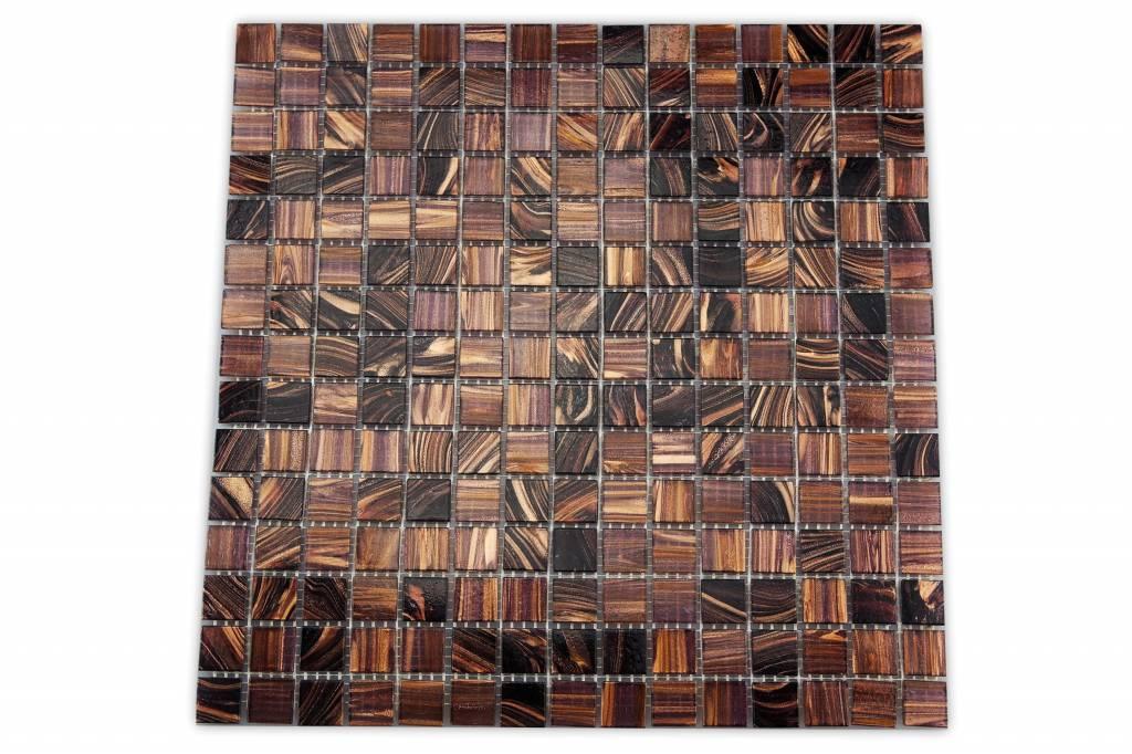 Glasmosaik Fliesen Kavala Dunkel Braun Kupfer Mix Mosaic Outlet