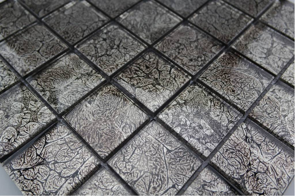 Glasmosaik fliesen silber gm4831 mosaic outlet for Glasmosaik fliesen