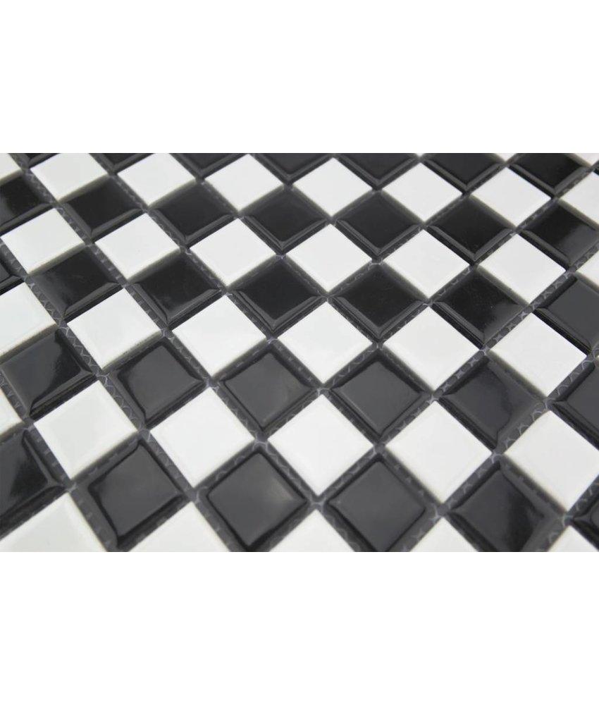 Keramikmosaik Fliesen schwarz/ weiß - 130