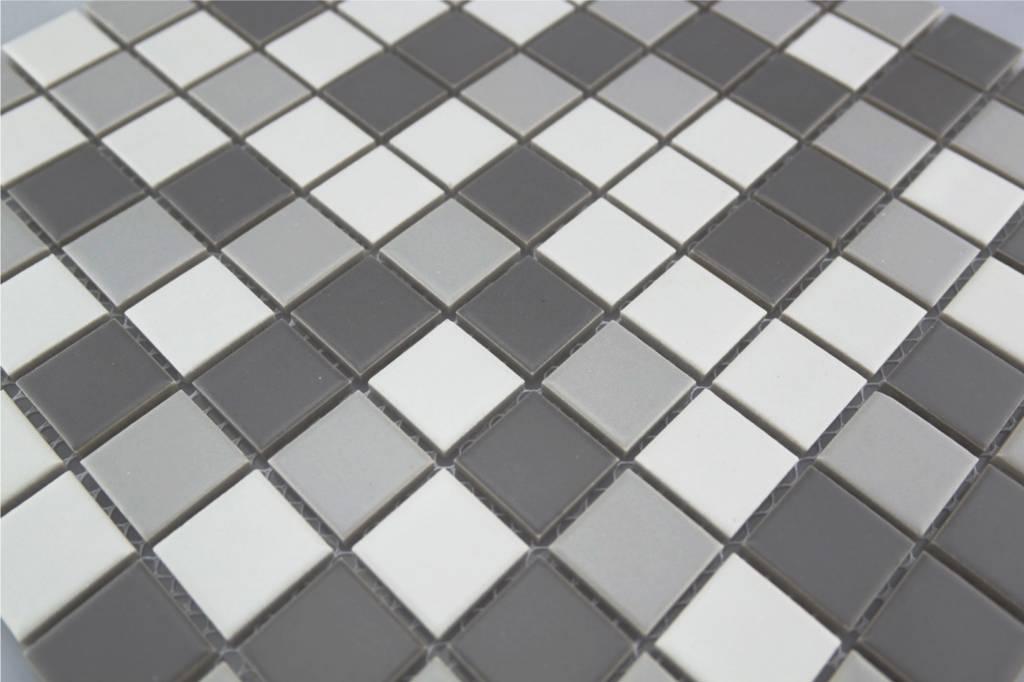 Fußboden Fliesen Mosaik ~ Keramikmosaik fliesen grau mix matt 154 mosaic outlet