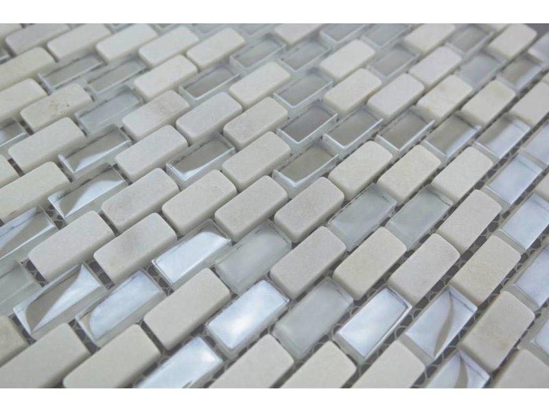 Mosaikfliesen Weiß bunte mosaikfliesen weiß mix mm2 mosaic outlet