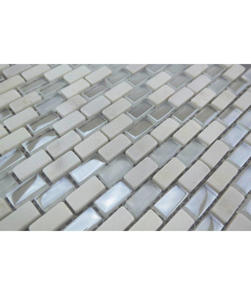 Bunte Mosaikfliesen weiß mix - MM2